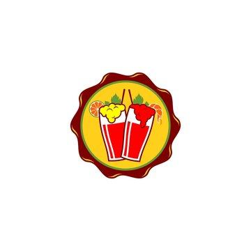 Healthy Fresh Drink Michelada Logo Design