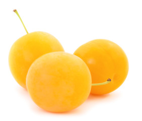Yellow plum isolated