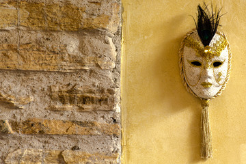 Mask in the wall
