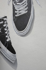 Wall painting. Sneakers