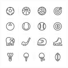 Sport icons with White Background