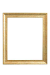 Vintage Wooden frame isolated.