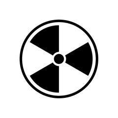 The radiation icon. Radiation symbol. Vector.
