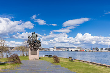 Bygdoy. Monument to the sailors. This monument is located near the Fram Museum and the Norwegian Maritime Museum