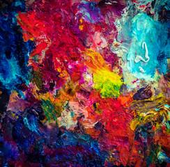 oil color palette with vivid colors