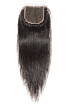 natural straight black human hair weaves extensions lace closure