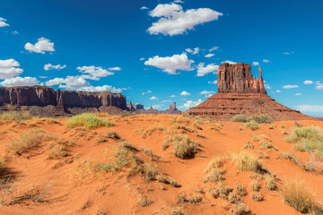 Sand dunes in Monument Valley at summertime in Arizona - Utah, USA