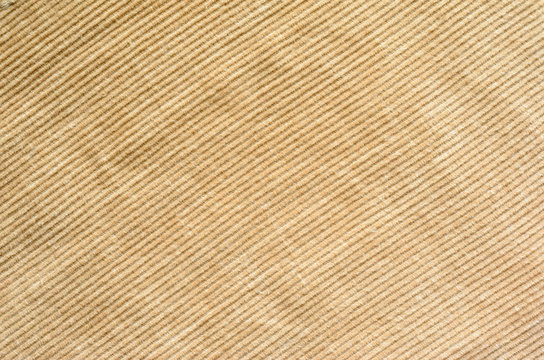 Texture of Beige Velvet Clothes. Textile Fabric of Corduroy as Background
