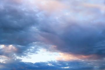 Dramatic sunset and sunrise, the dark sky.