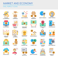 Market and Economy , Thin Line and Pixel Perfect Icons.