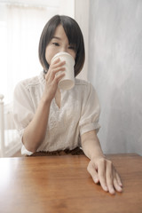 relax tea time drinking coffee