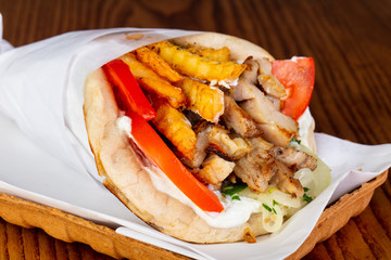 Gyros with chicken