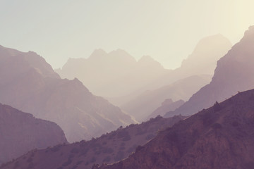 Foto auf Gartenposter Beige Fann mountains