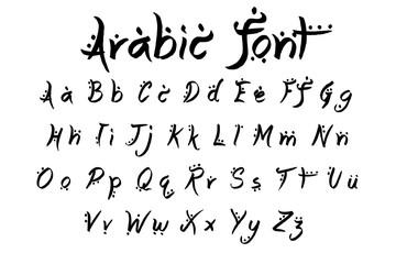 arabic font alphabet