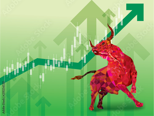 Bullish Symbols On Stock Market Vector Illustration Vector Forex Or