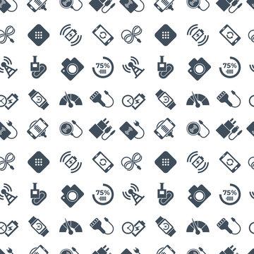 Digital vector wireless charging icons set