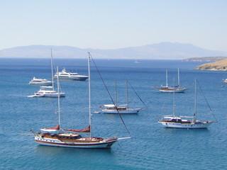 View of the Turkish coast.