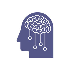 Artificial Intelligence icon. Deep machine learning concept ESP 10