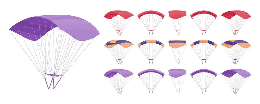 Parachute equipment set