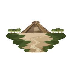 Aztec Pyramid Ancient Monument Mexico Landscape Vector