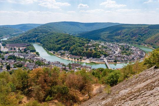 La vallée de la Meuse à Monthermé, Ardennes, Grand Est, France