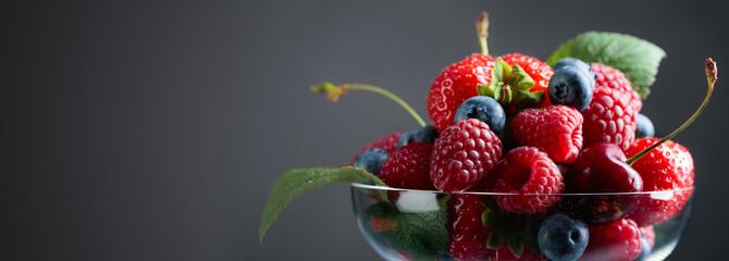 Berries closeup mix.