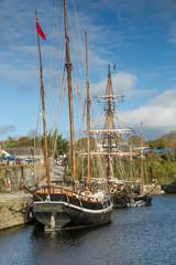 Heritage ships, Charlestown Harbour, Cornwall