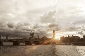 Westminster Palace and the Thames
