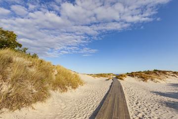 Deserted beach in Sandhammaren, Sweden.