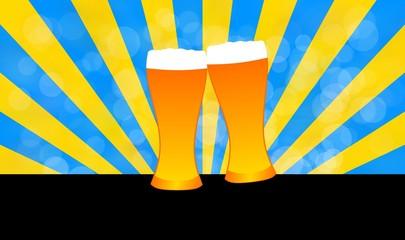 Glass of beer illustration concept design background