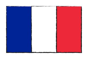 France flag vector design isolated on white background