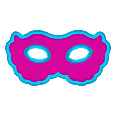 Isolated carnival mask image