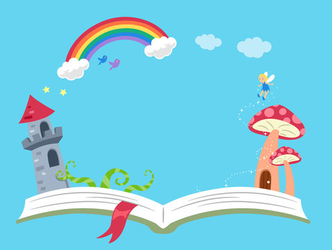 Storytelling Fantasy Book Background Illustration