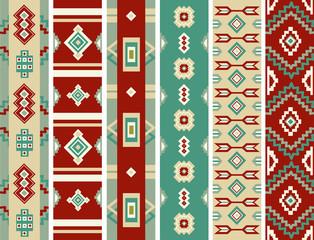 Native American Navajo Borders Illustration