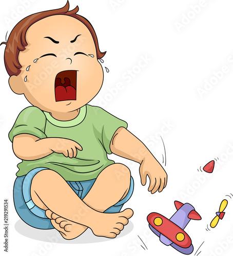 """Kid Toddler Boy Cry Toy Break Illustration"" Stock image ..."