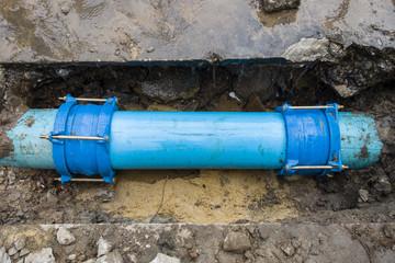 crak print of water pipe 300 mm diameter pvc 13 5 class by point