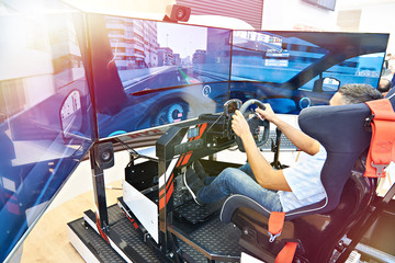Computer racing simulator