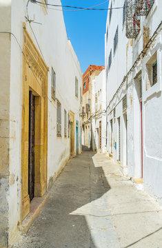 The narrow streets of Sfax, Tunisia