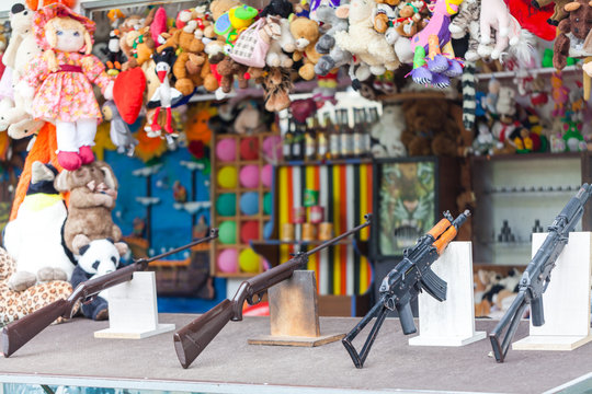 Shooting gallery on the fair