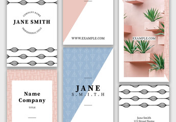 Delightful Business Cards Set