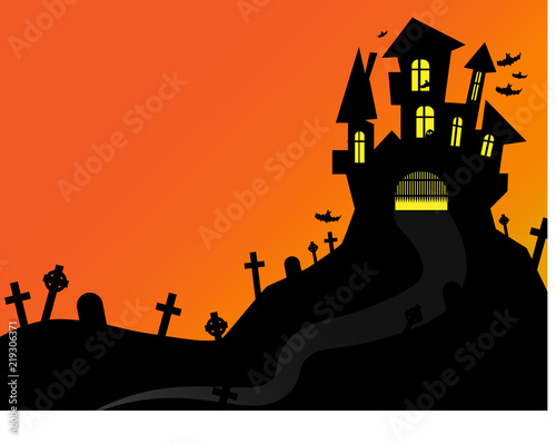 Halloween Poster Background Free.Halloween Poster Background Castle Stock Image And