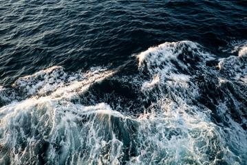 Splashy Ship Trail White Foamy Wave