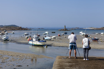 low tide in brittany