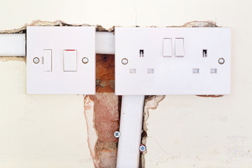 Rewiring British domestic socket