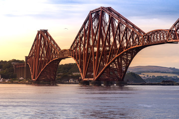 Foto auf Acrylglas Bridges The Forth bridge Edinburgh