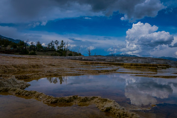 New Highland Terrace, Mammoth Hot Springs, Yellowstone National Park, Wyoming