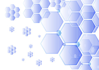 Abstract snowflakes background Vector illustration