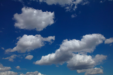 Wonderful clouds at a deep blue sky