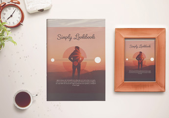 Brochure Layout with Pale Pink Accents