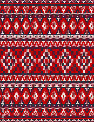 300a16478f1e7 Knitted Chrismas rug tribal ornament seamless pattern. Ethnic aztec towel,  yoga mat. Vector Henna tattoo style textile, greeting business card  background, ...